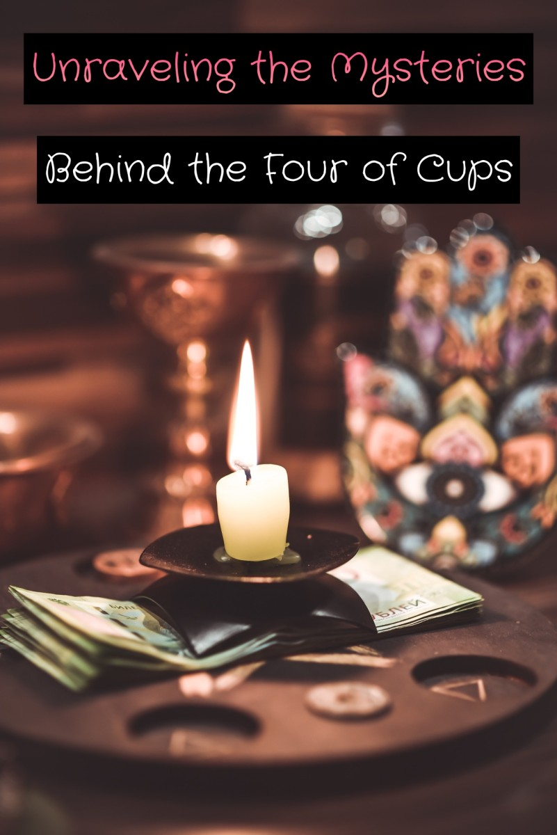 The Four of Cups is about seeking contemplation. You need to be alone with your thoughts. Separating yourself from all the noise will give you clarity on your issues.