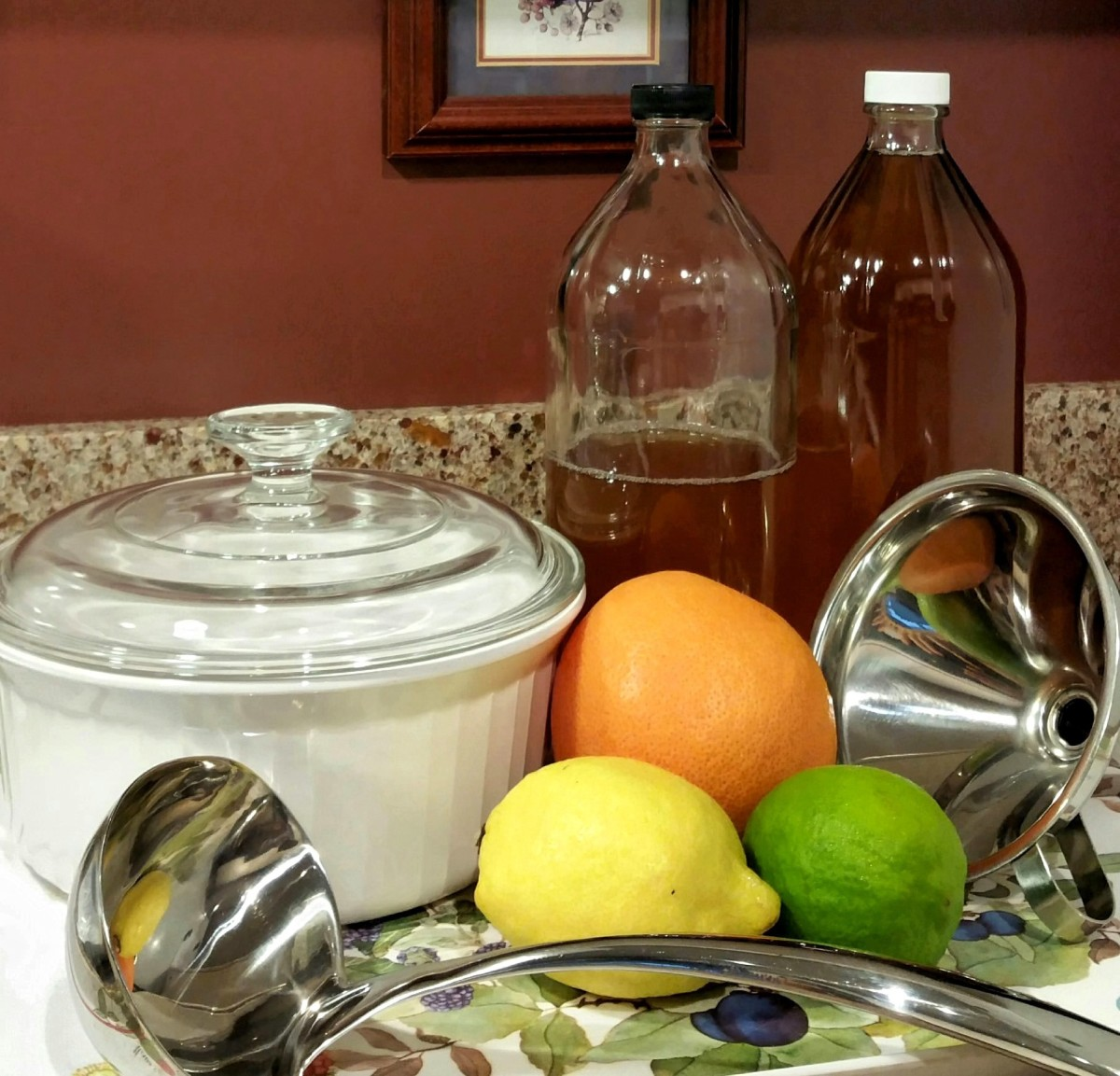 Keep your bottles of spicy iced tea in the fridge, ready to be poured.