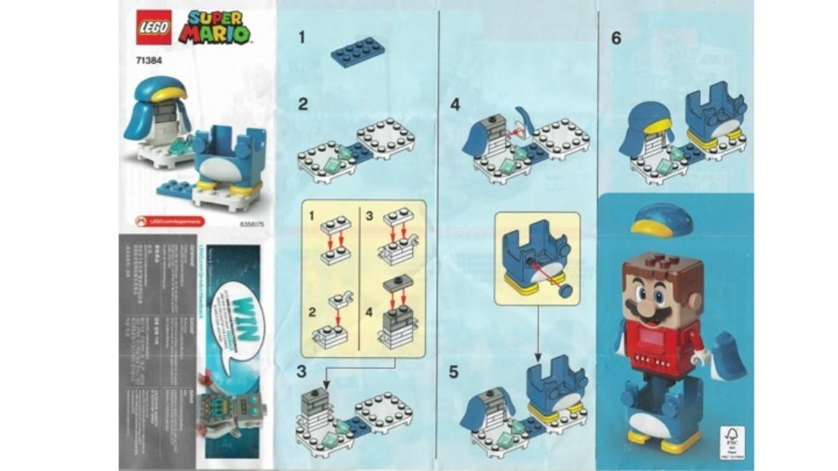 LEGO Penguin Mario Power-Up Pack 71384 Instructions