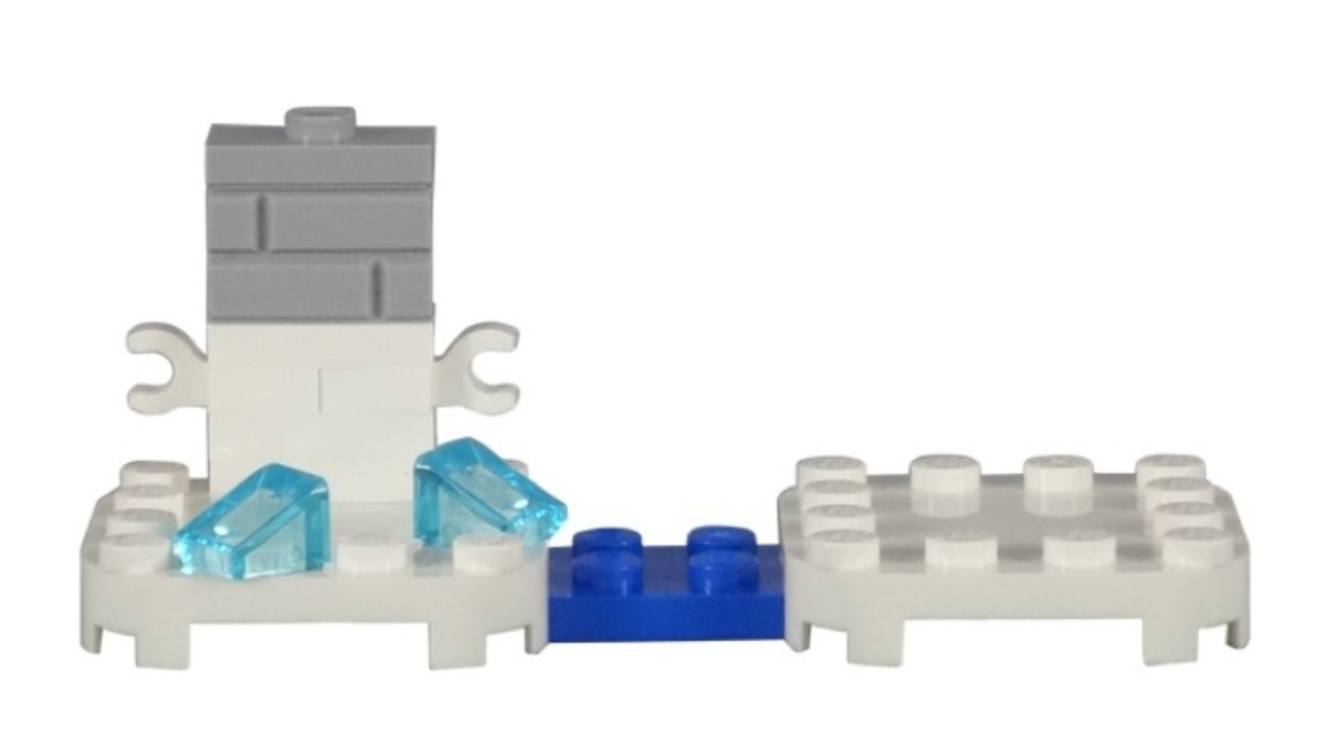 LEGO Penguin Mario Power-Up Pack 71384 Display Stand