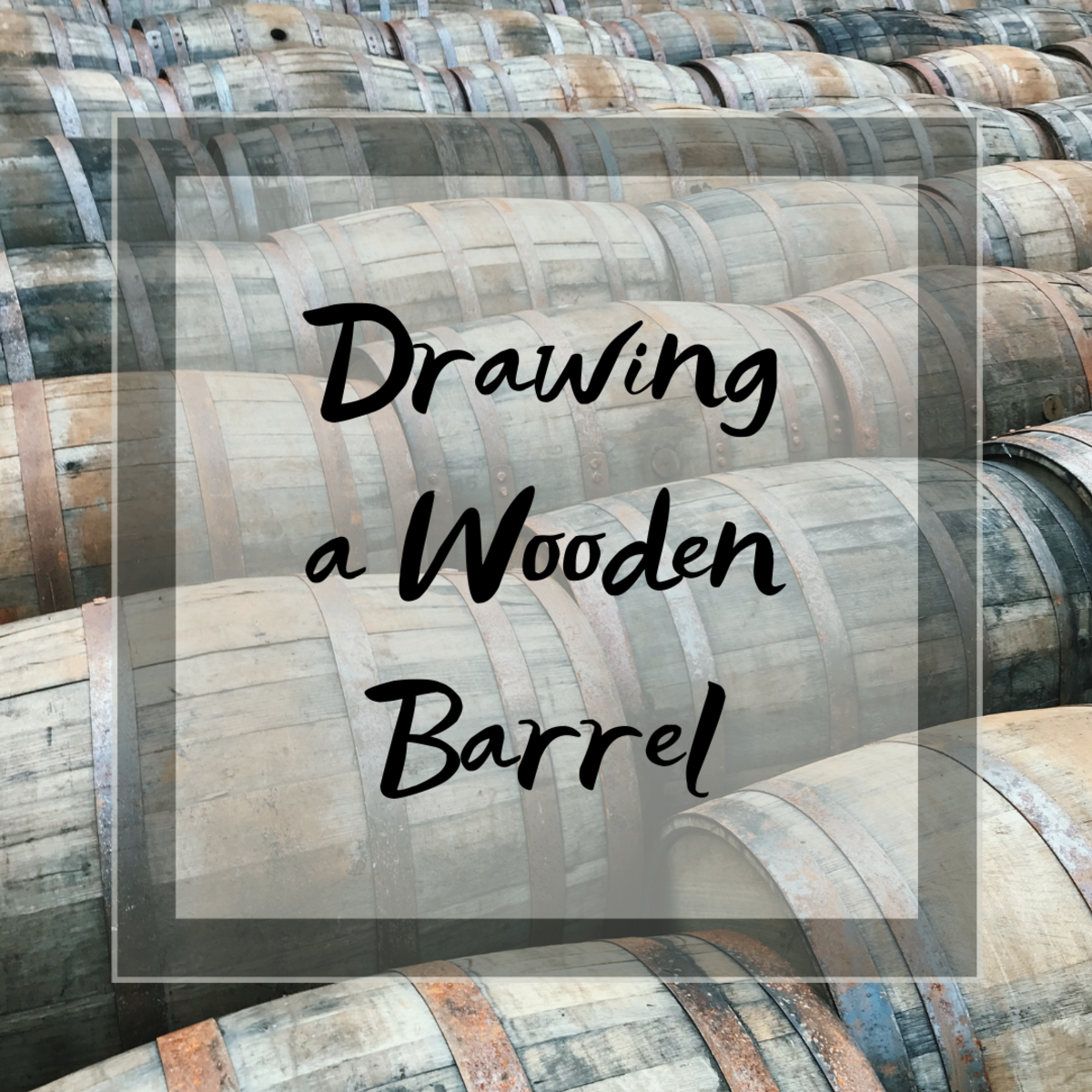 Learn how to draw an old-fashioned wooden barrel in this easy, step-by-step guide