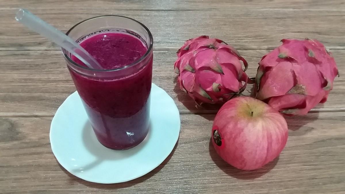 apple, dragon fruit and ginger tea detox smoothie