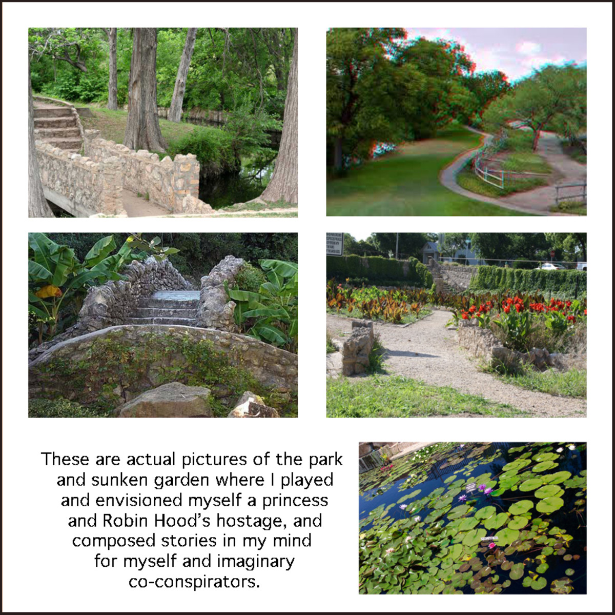 Featuring shots of the San Angelo Concho River park and sunken garden.
