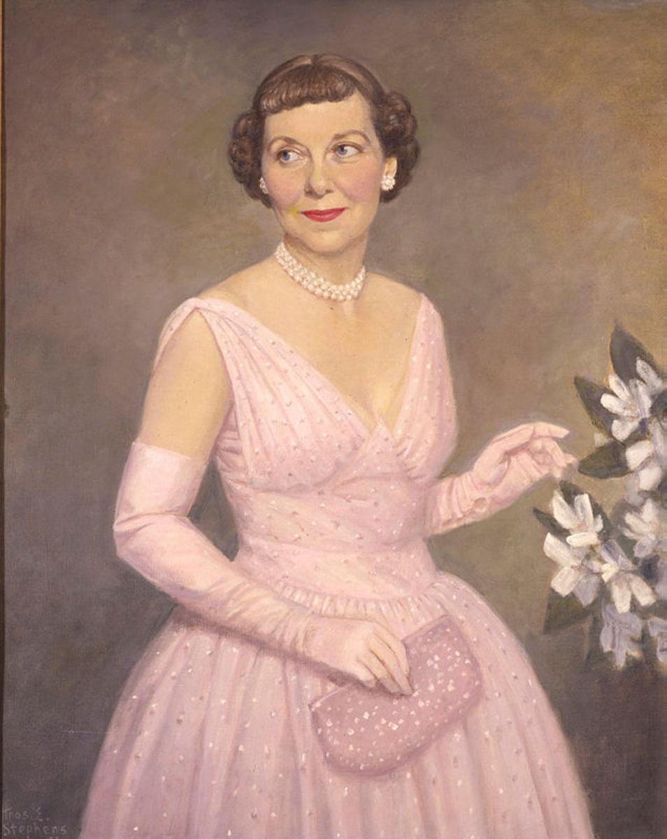 Mamie Eisenhower, 1953.