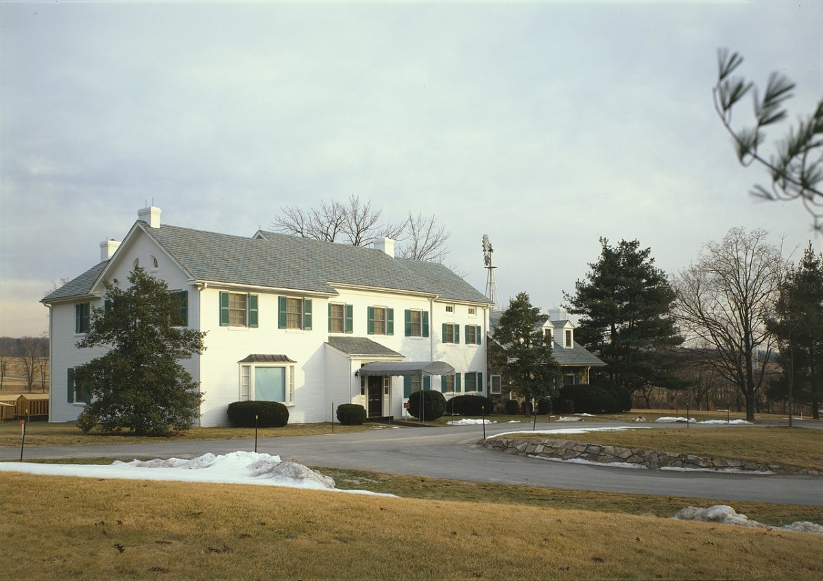 The main house of the Eisenhower Farm, Gettysburg, Pennsylvania.