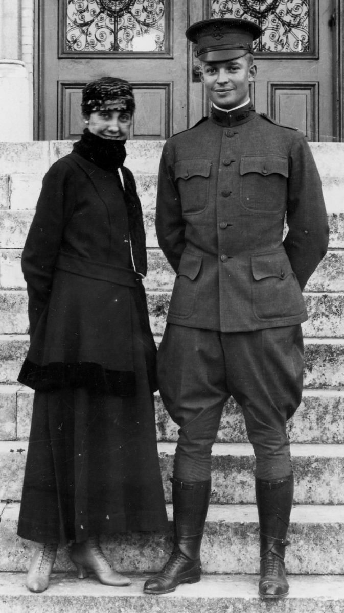 Mr. and Mrs. Dwight Eisenhower in 1916.