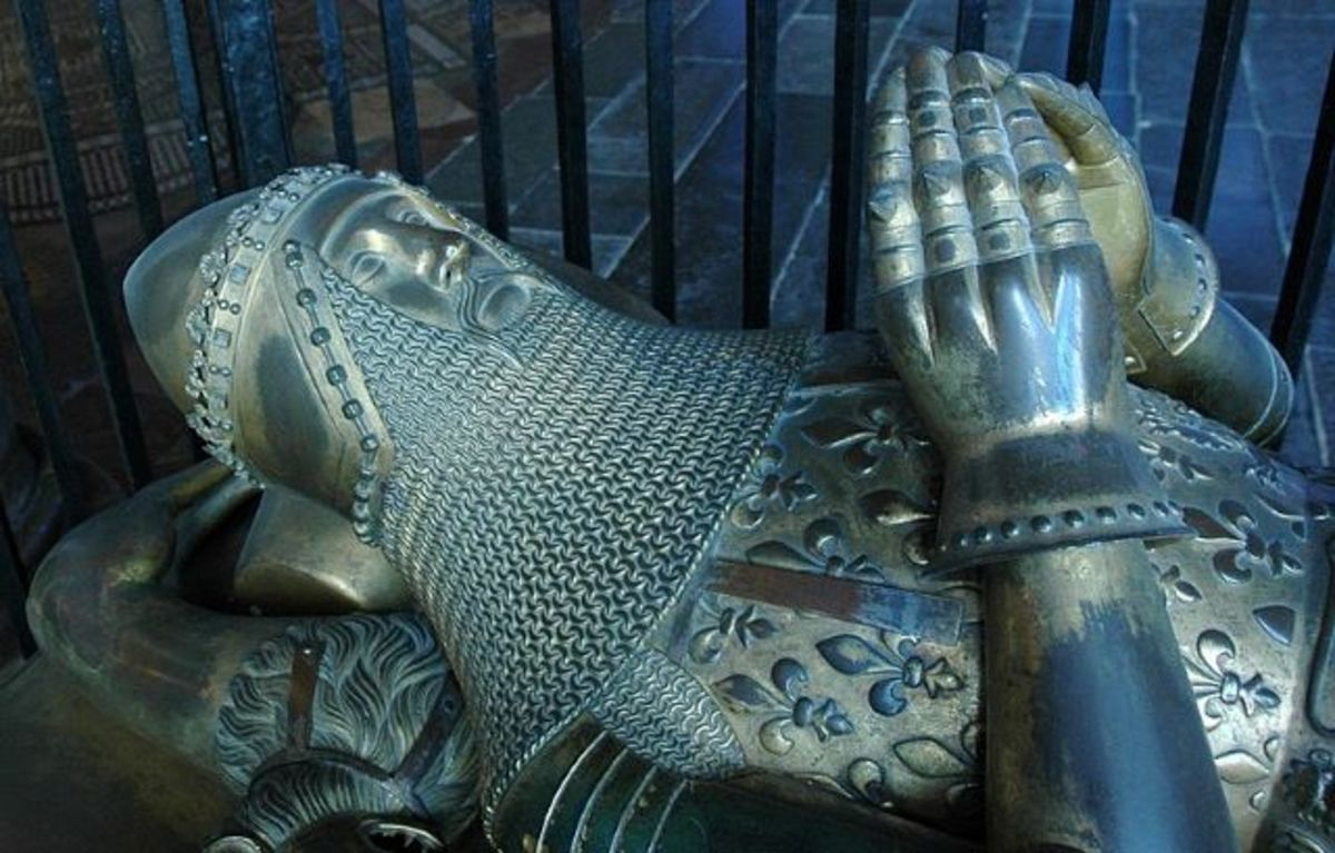 Edward the Black Prince's tomb at Canterbury Cathedral.