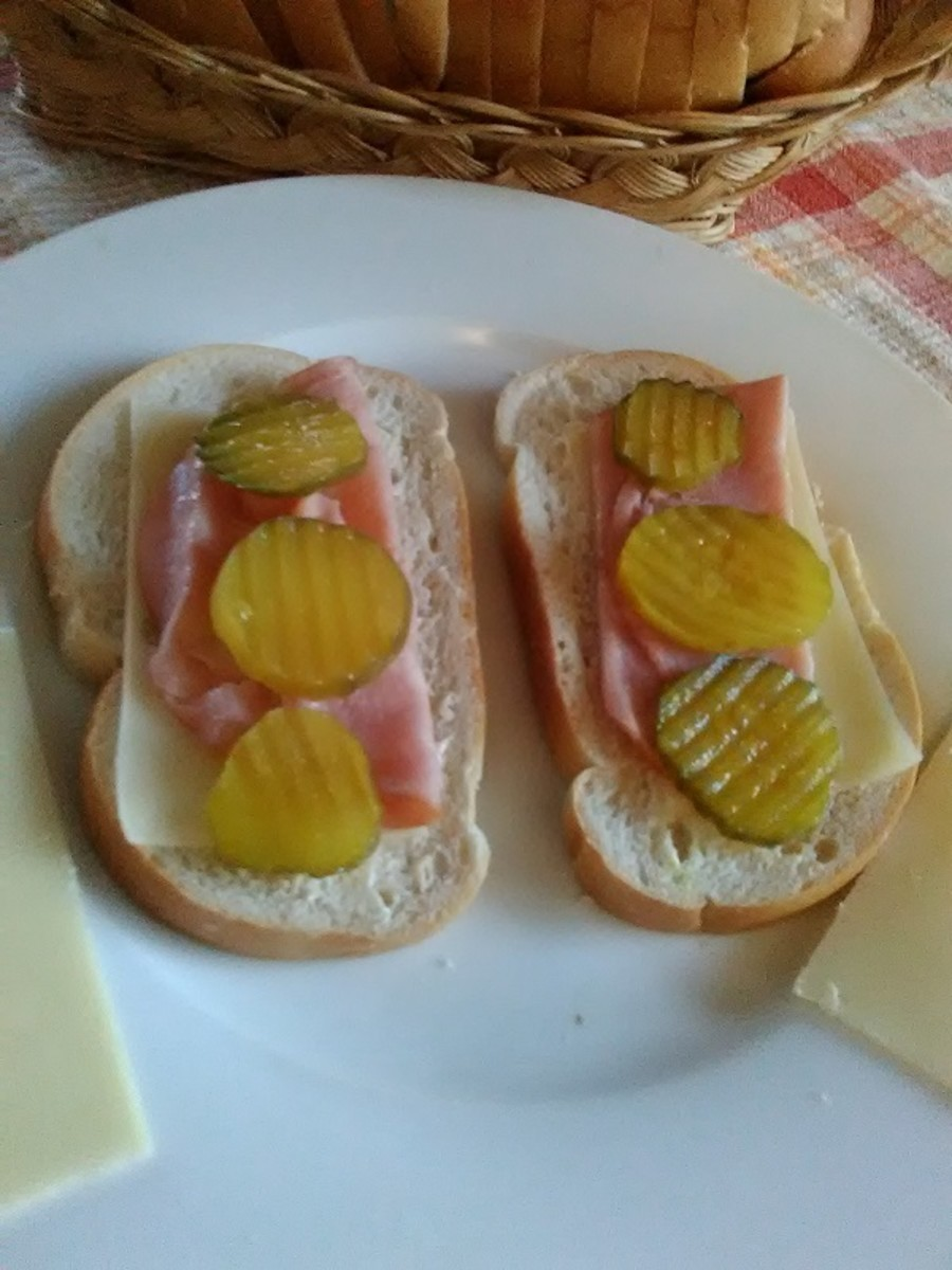 The Cuban sandwich is put together like a sub sandwich.