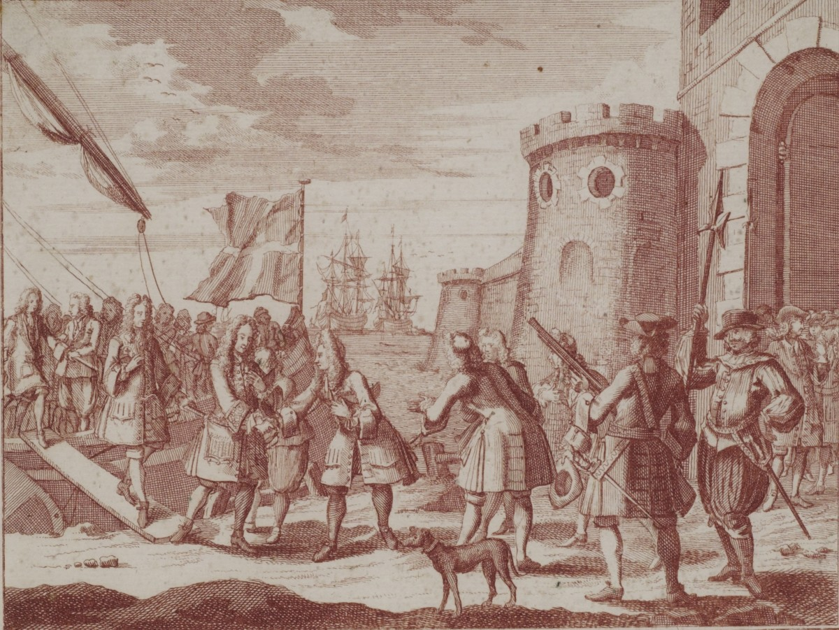 The Old Pretender, Prince James, Landing at Peterhead on December 22, 1715.