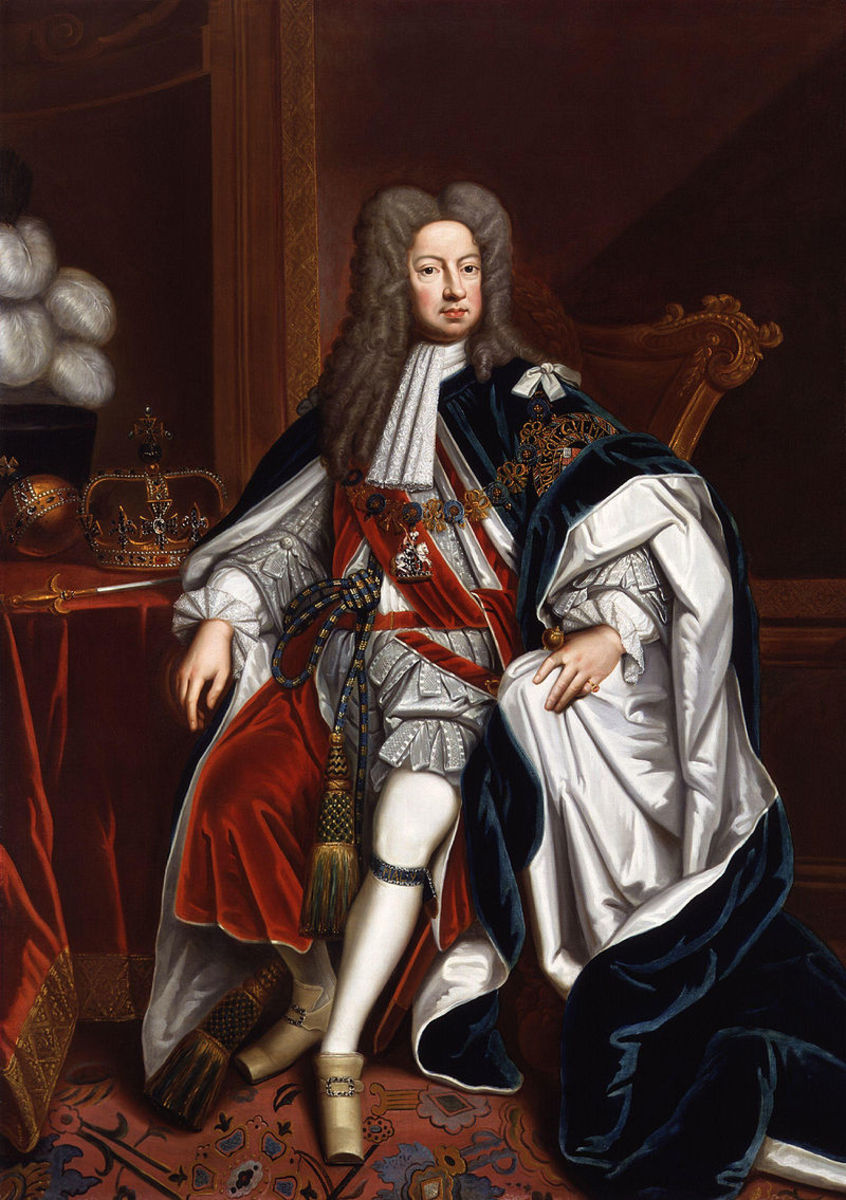 Portrait of King George I from the studio of Sir Godfrey Kneller, 1714.