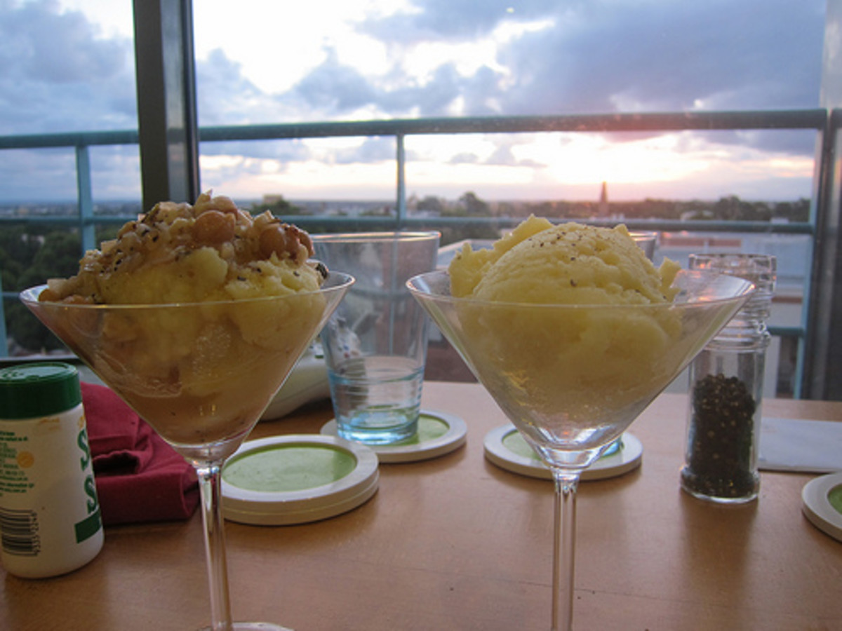 Mashed Potato Martini Glasses