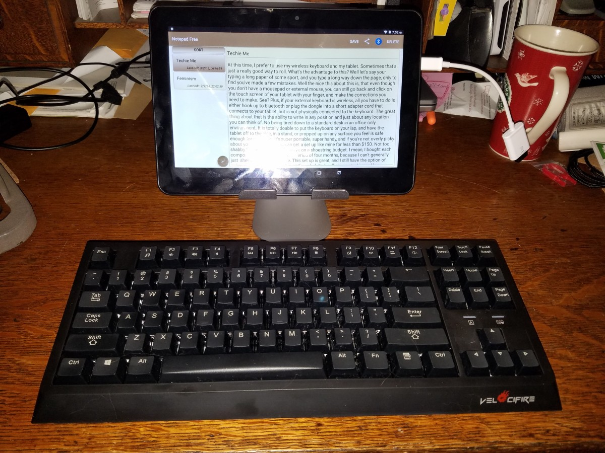 External keyboard/tablet setup