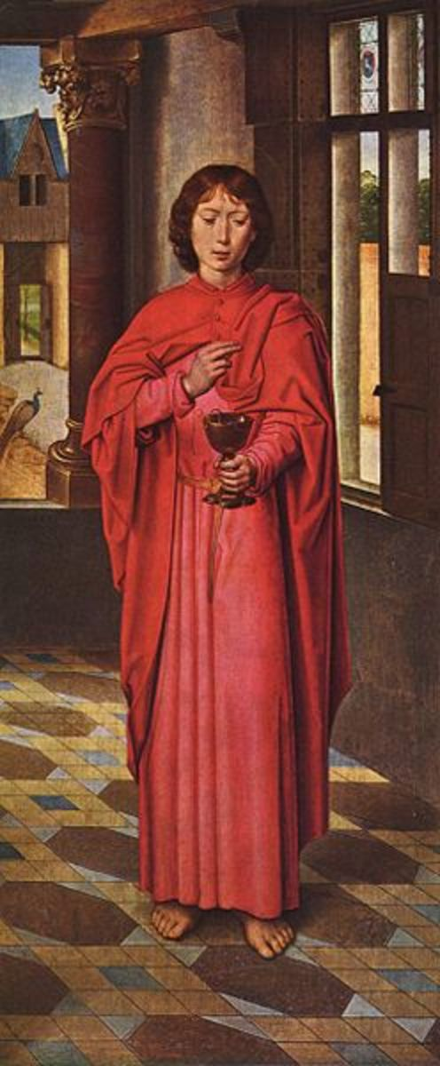 """John the Beloved Apostle"" by Hans Memling (1468) - National Gallery - London"