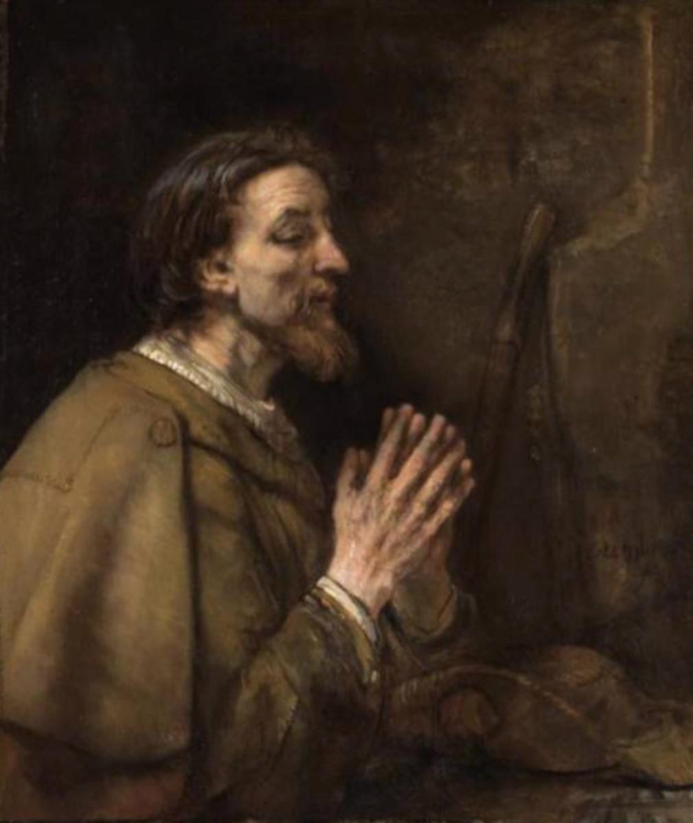 """""""Saint James the Elder"""" by Rembrandt van Rijn (1661)"""