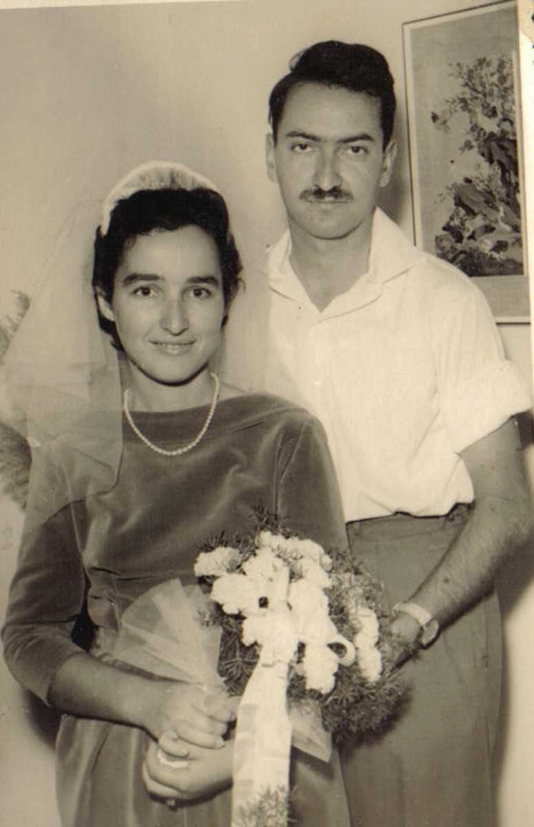 Ora and Amnon Katz at their wedding