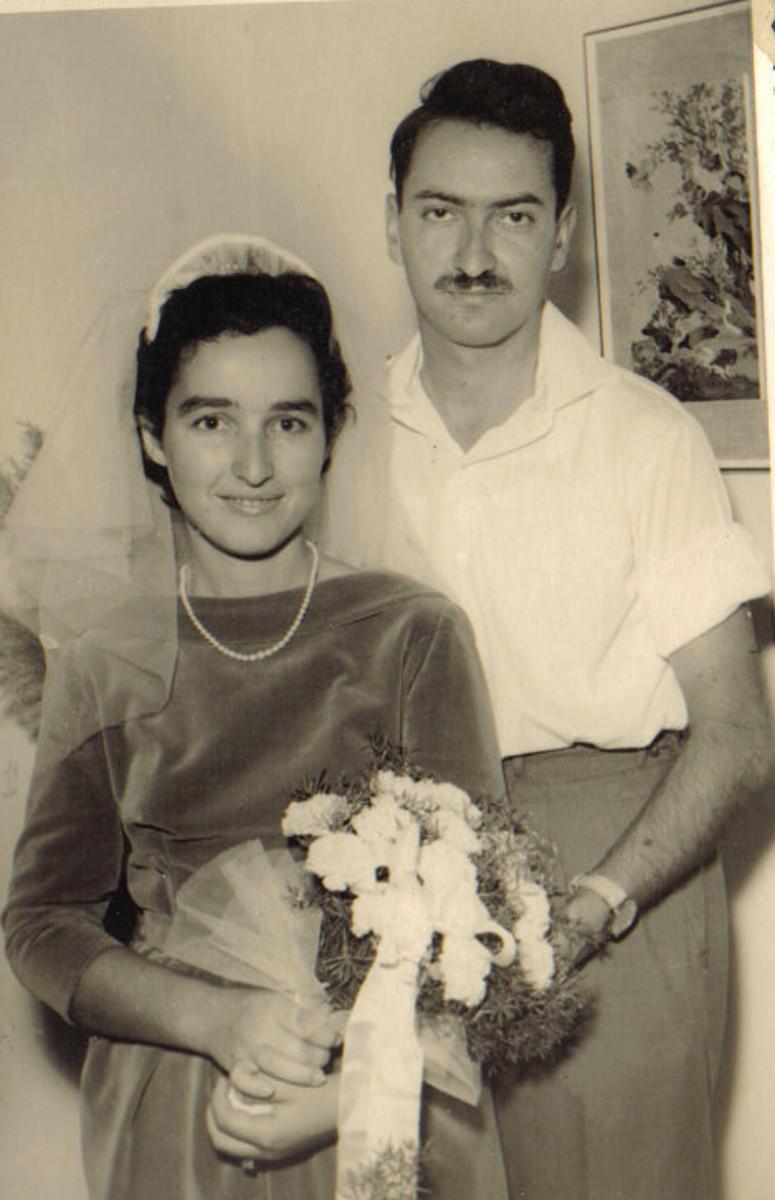 Ora and Amnon Katz at their wedding