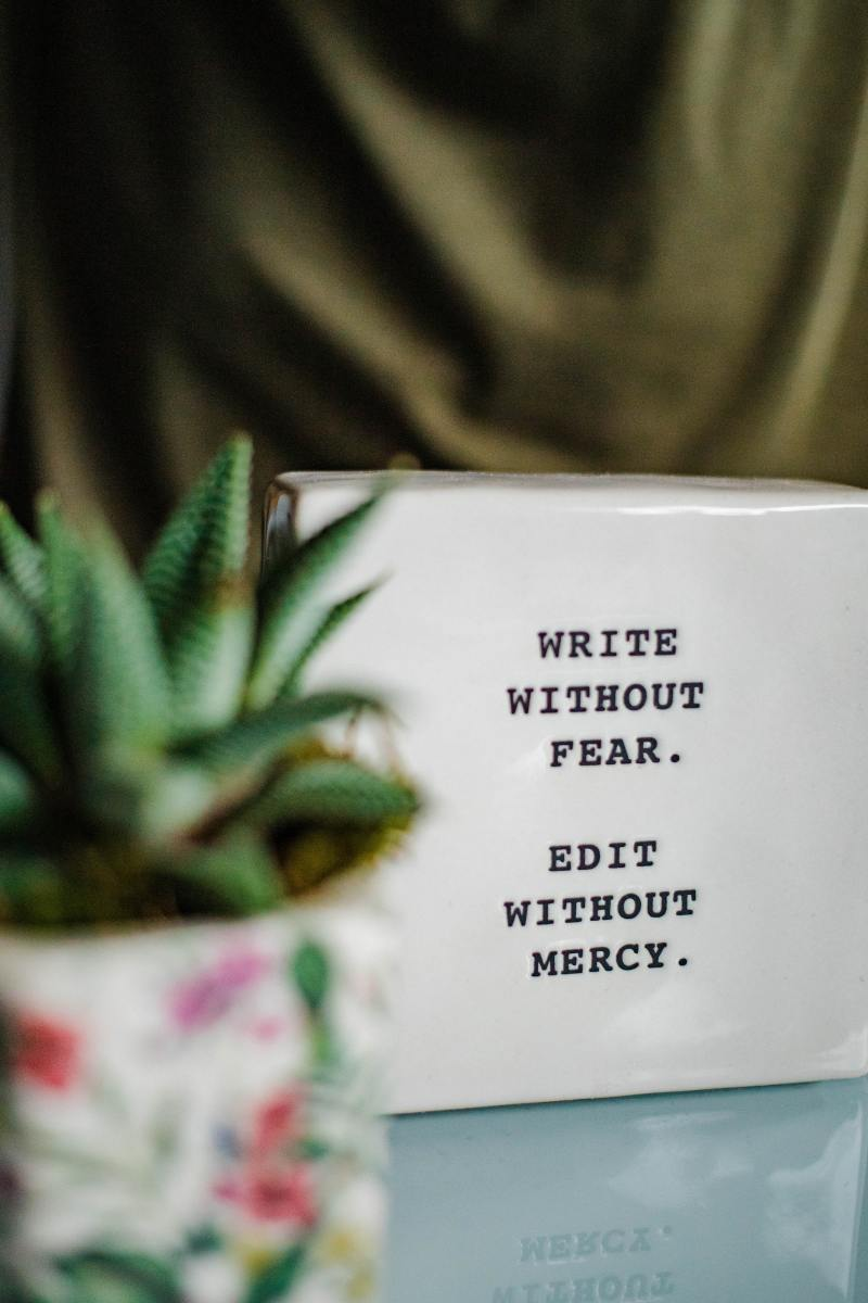 Write to remove fear
