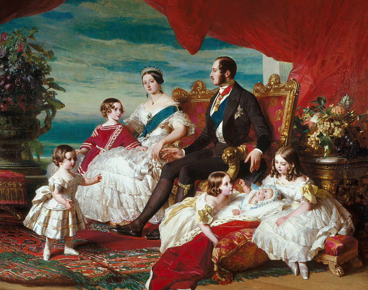 Victoria and Albert with their first five children.