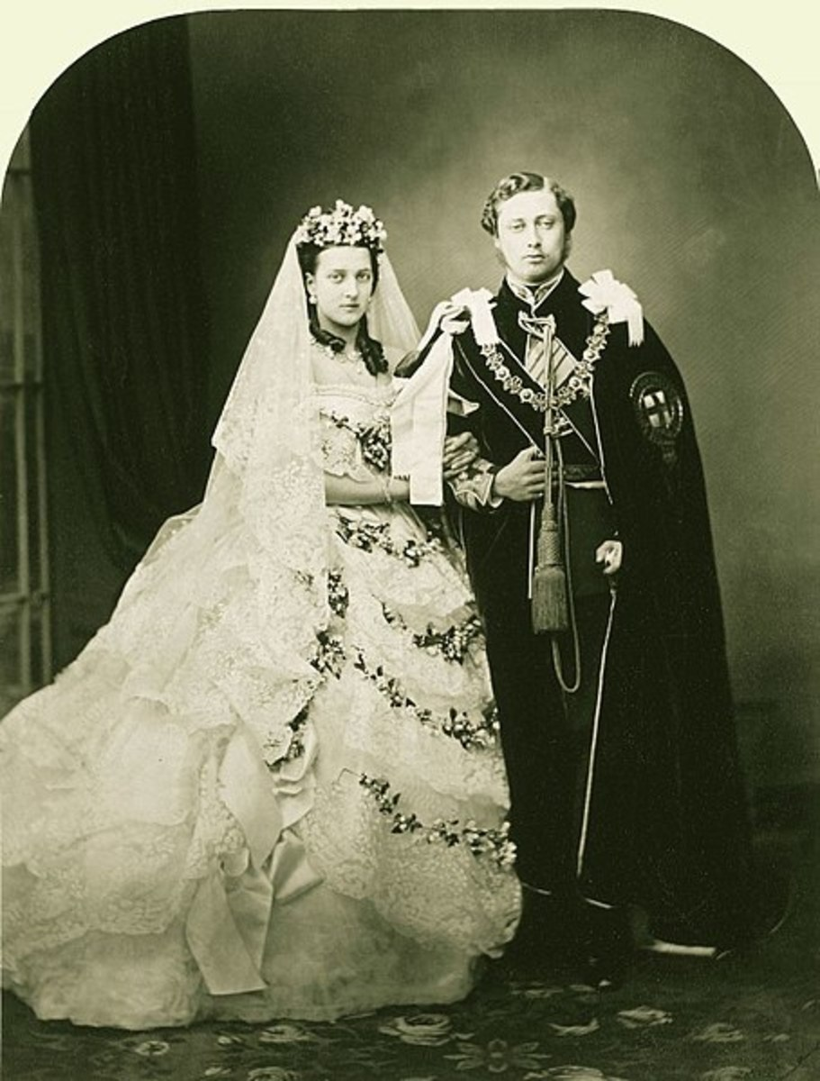 Bertie and Alexandra's wedding photo.