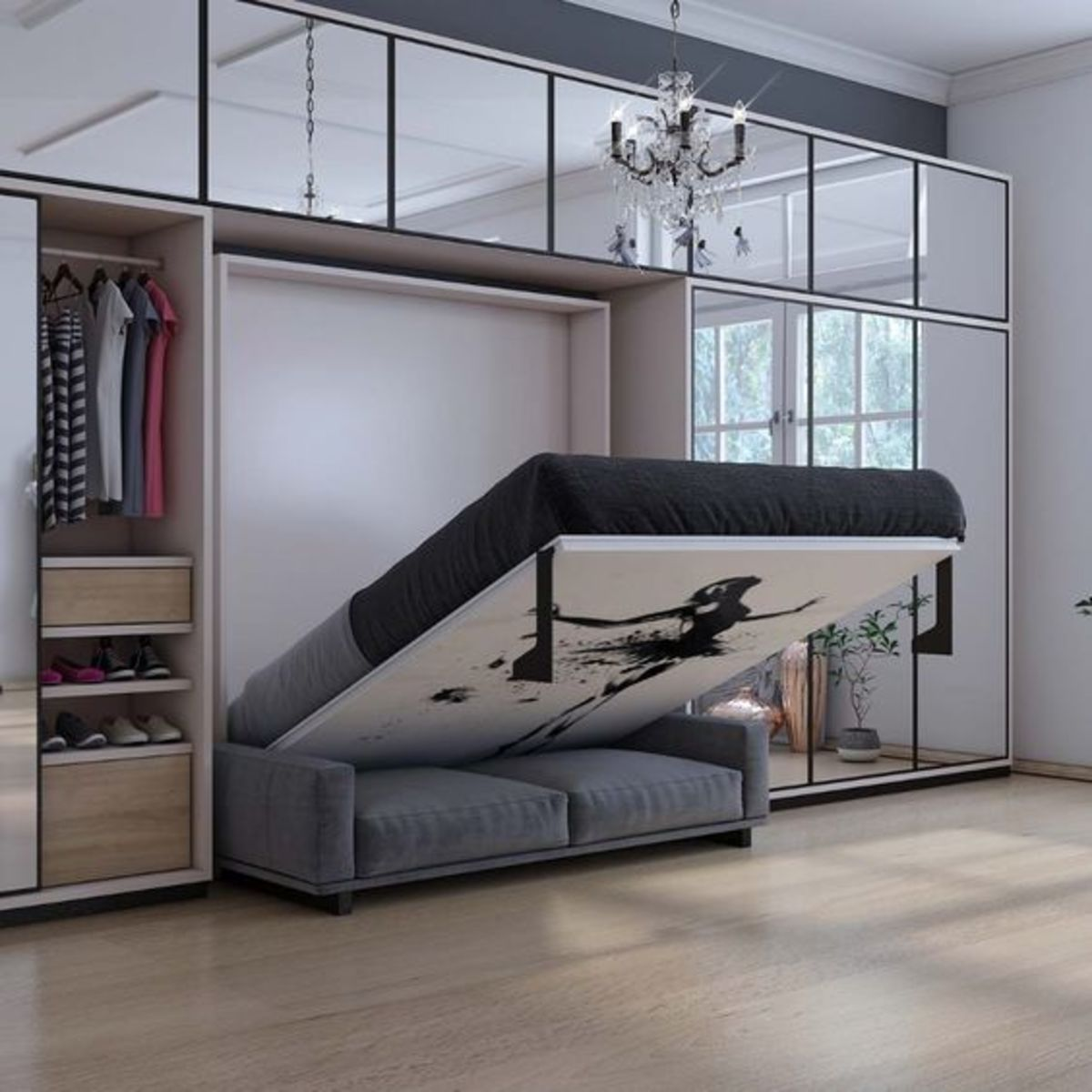 6 Amazing Murphy Bed Design Ideas for Small Space Bedrooms