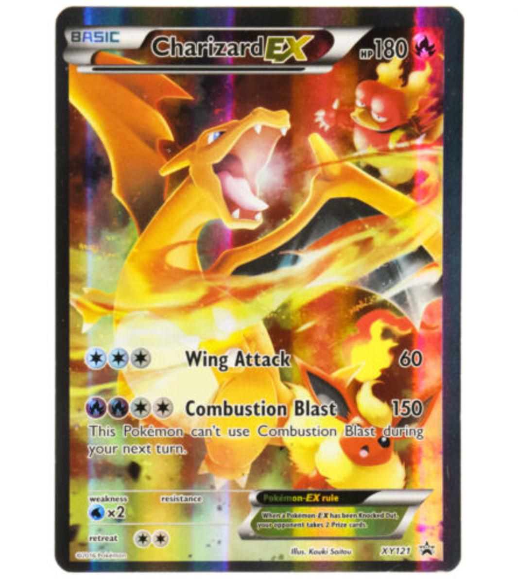 2016 Pokemon XY Promo Charizard EX XY121