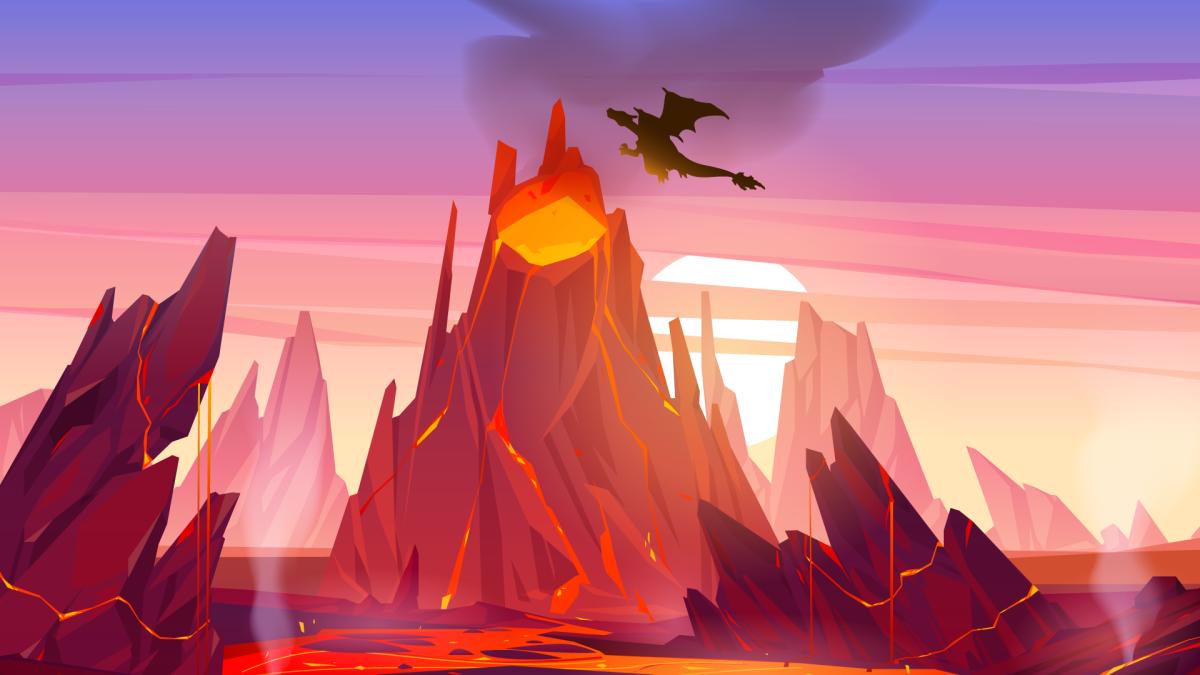 Original Artwork - Charizard Volcano