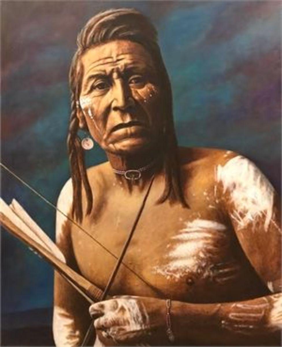 A portrait of a Timucua Indian