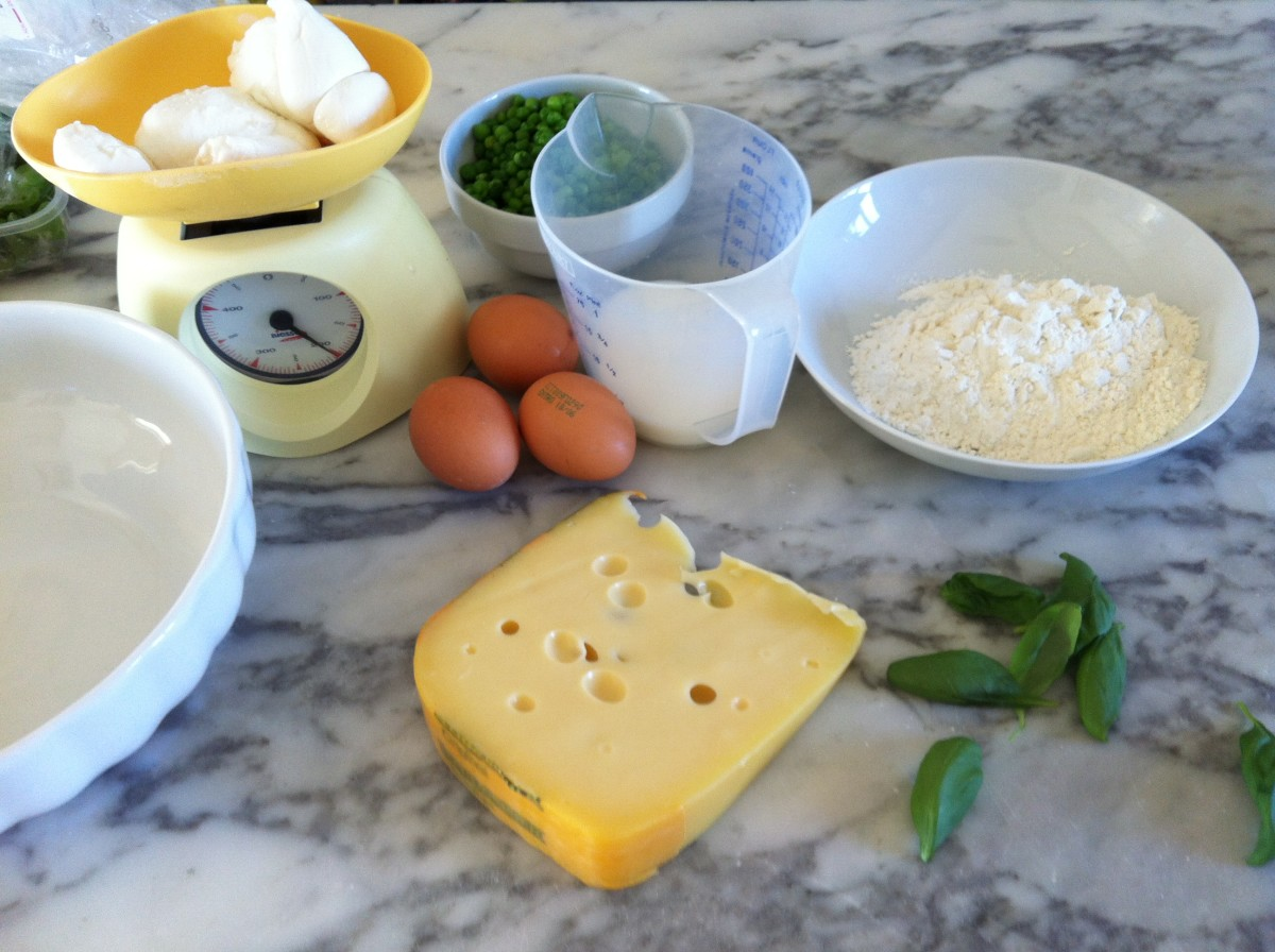 Baking and cheese ingredients