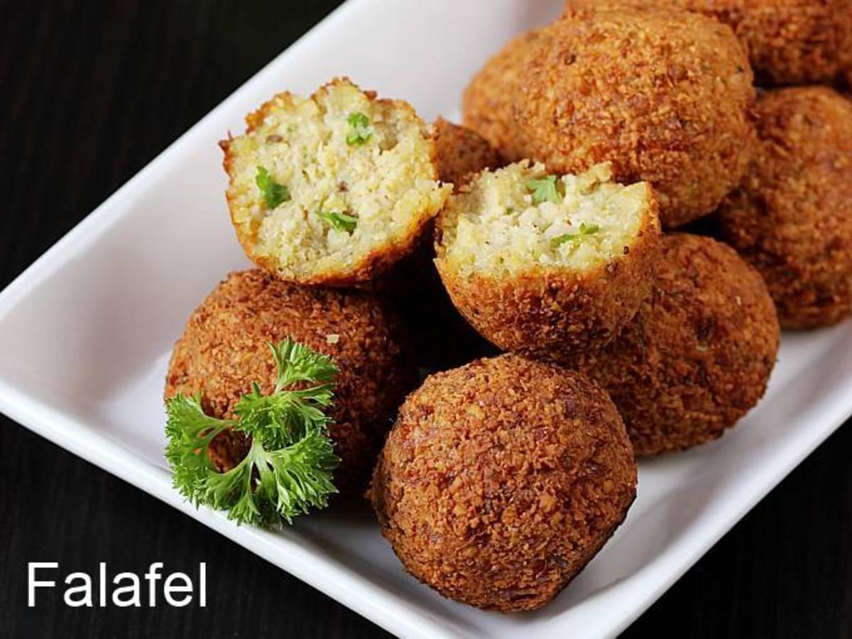 Golden, crispy and tasty falafel balls.