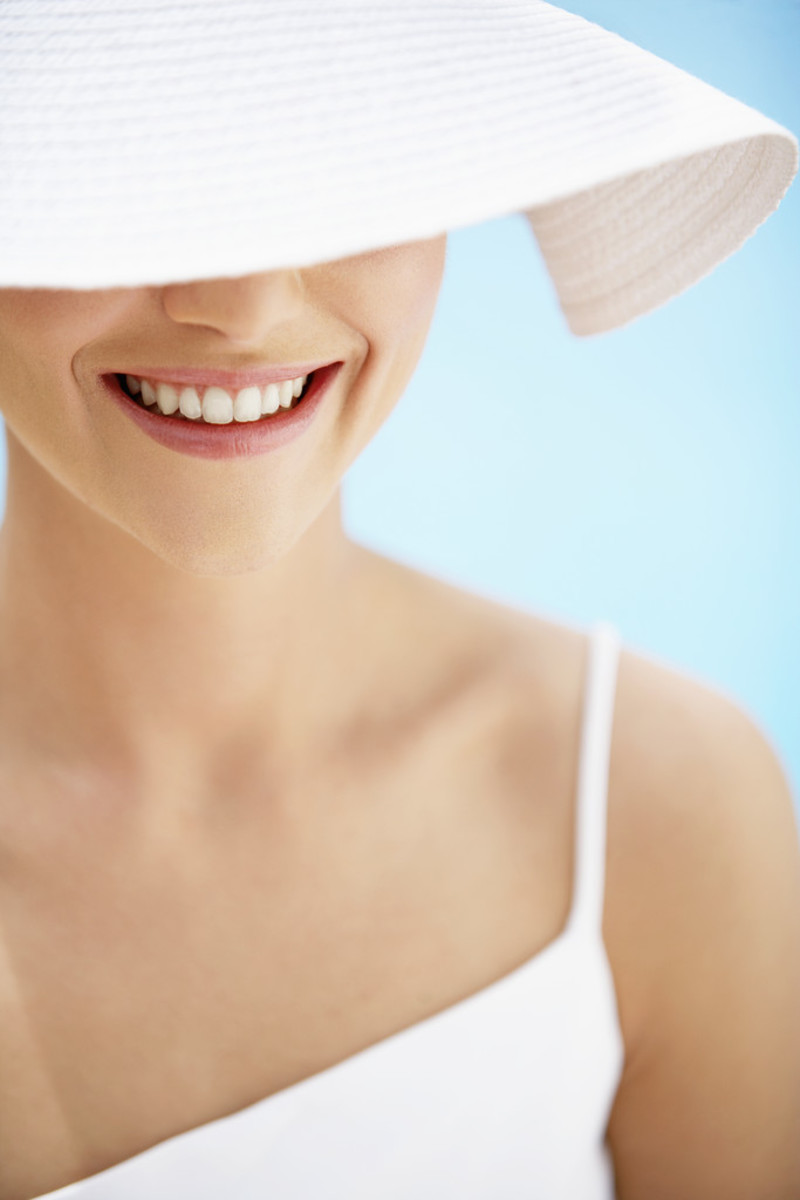 Gone are the baby teeth.  There's no turning back.  So let them sparkle ladies!  And tone while you're at it!