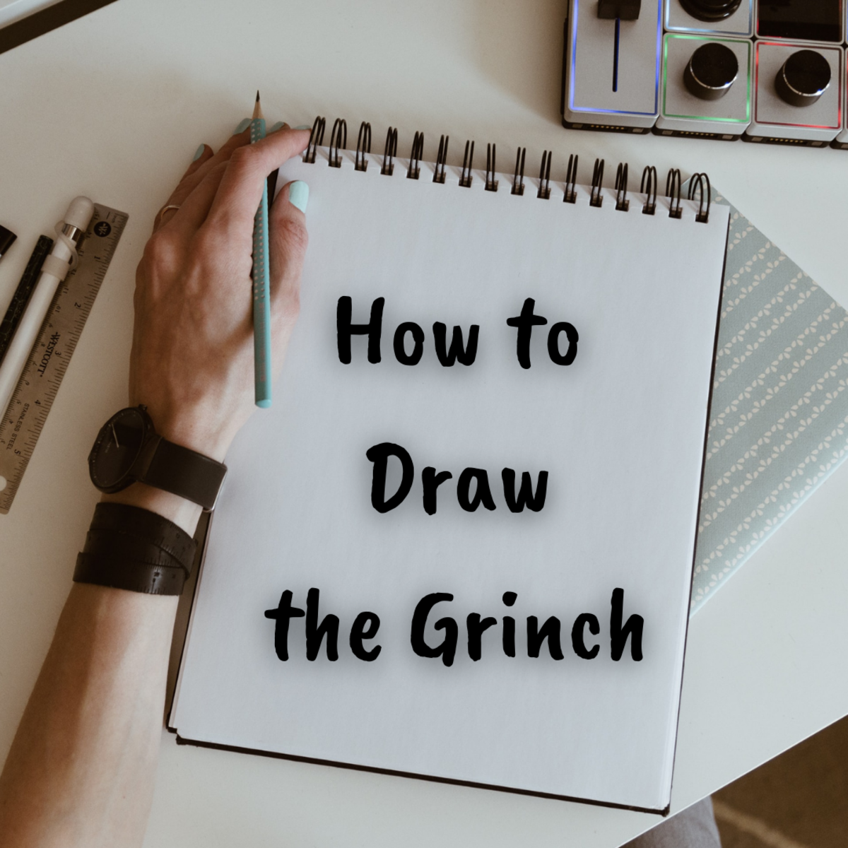 Learn how to draw the Grinch with the easy, step-by-step tutorial!