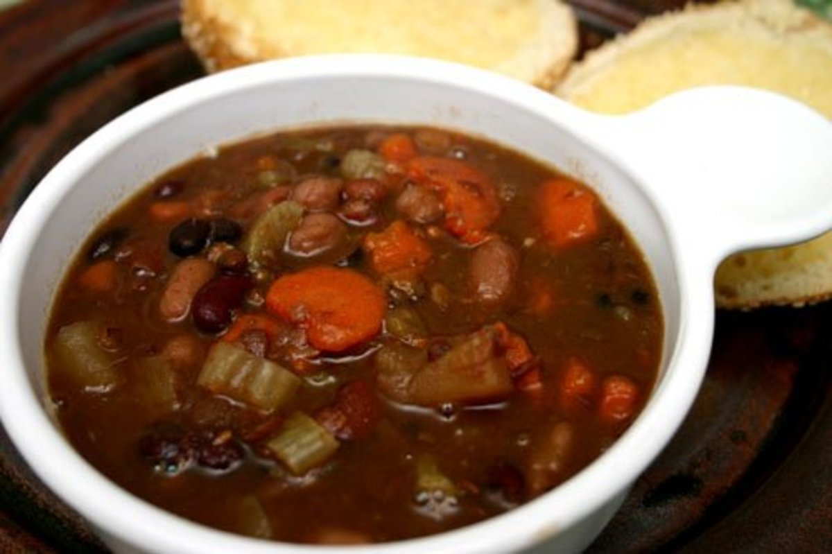 Vegetarian Many Bean Soup Recipe (Vegan)