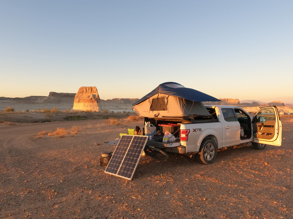 Rooftop tend on a Ford F-150