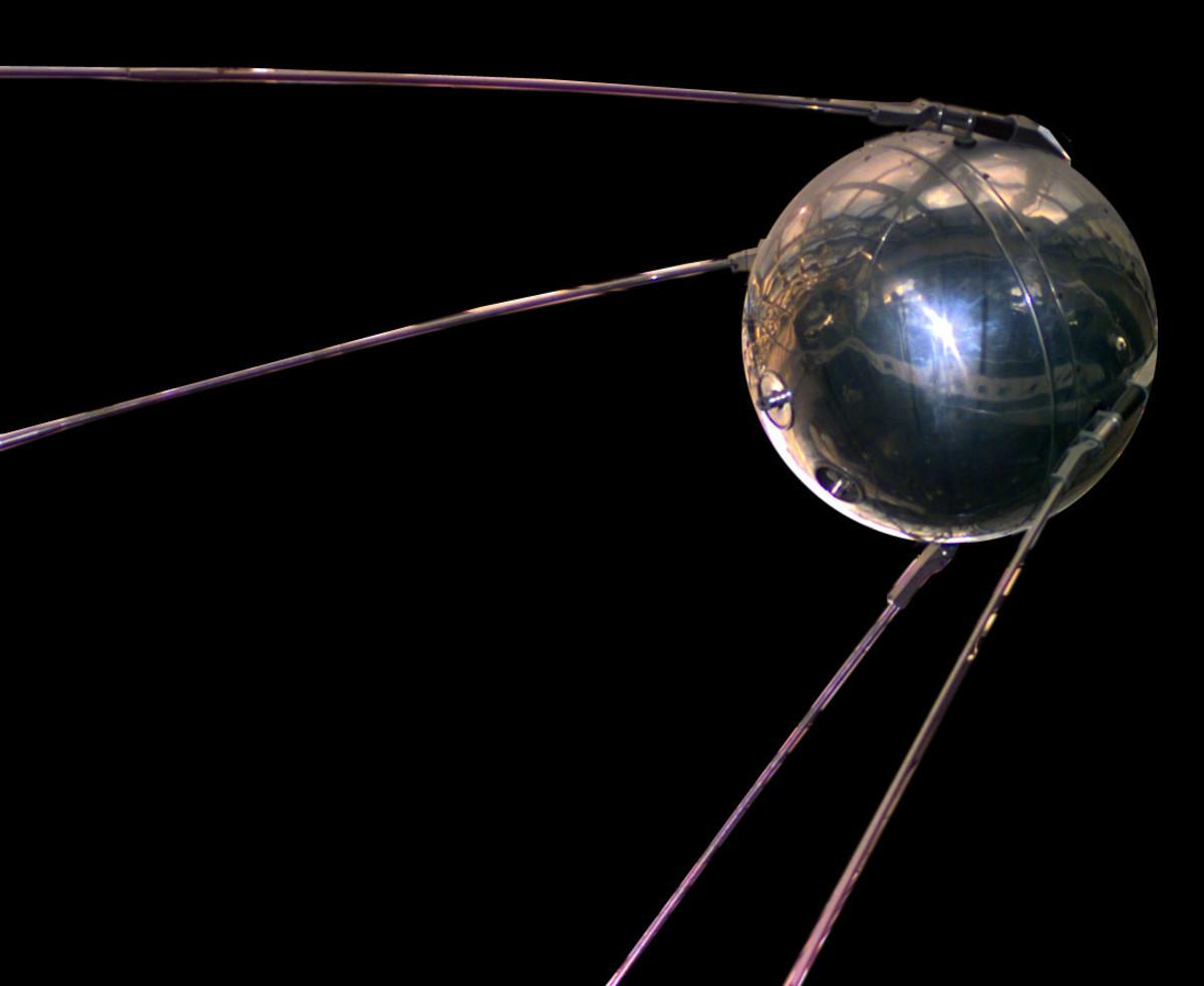 Replica of the Sputnik I satellite.