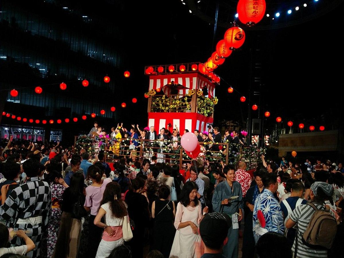 Obon dancing in Tokyo.