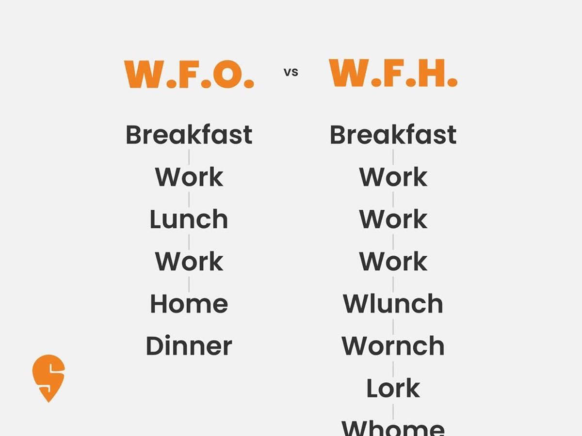 In WFH work, gets attached to every activity at home.