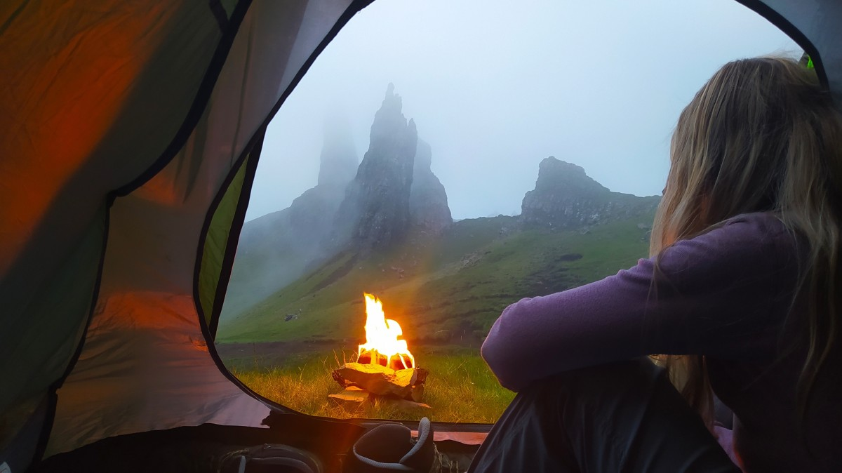 Wild camping at the Old Man of Storr