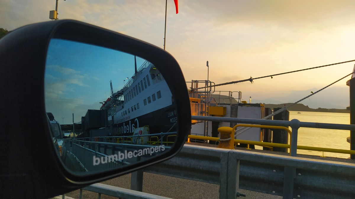 Taking the campervan to the islands via the Caledonian MacBrayne ferries.