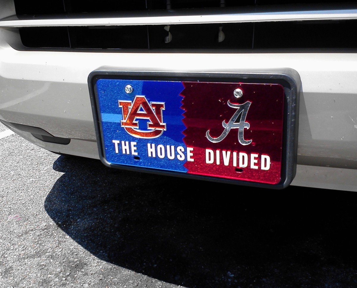 Many houses are divided, mostly in fun, during SEC football season.