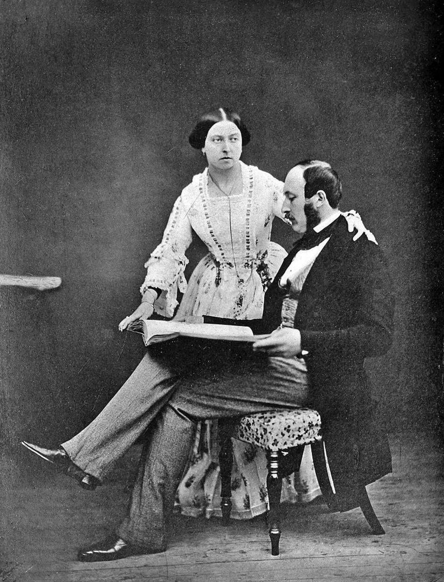 Queen Victoria and Prince Albert, circa 1854. (Public Domain.)