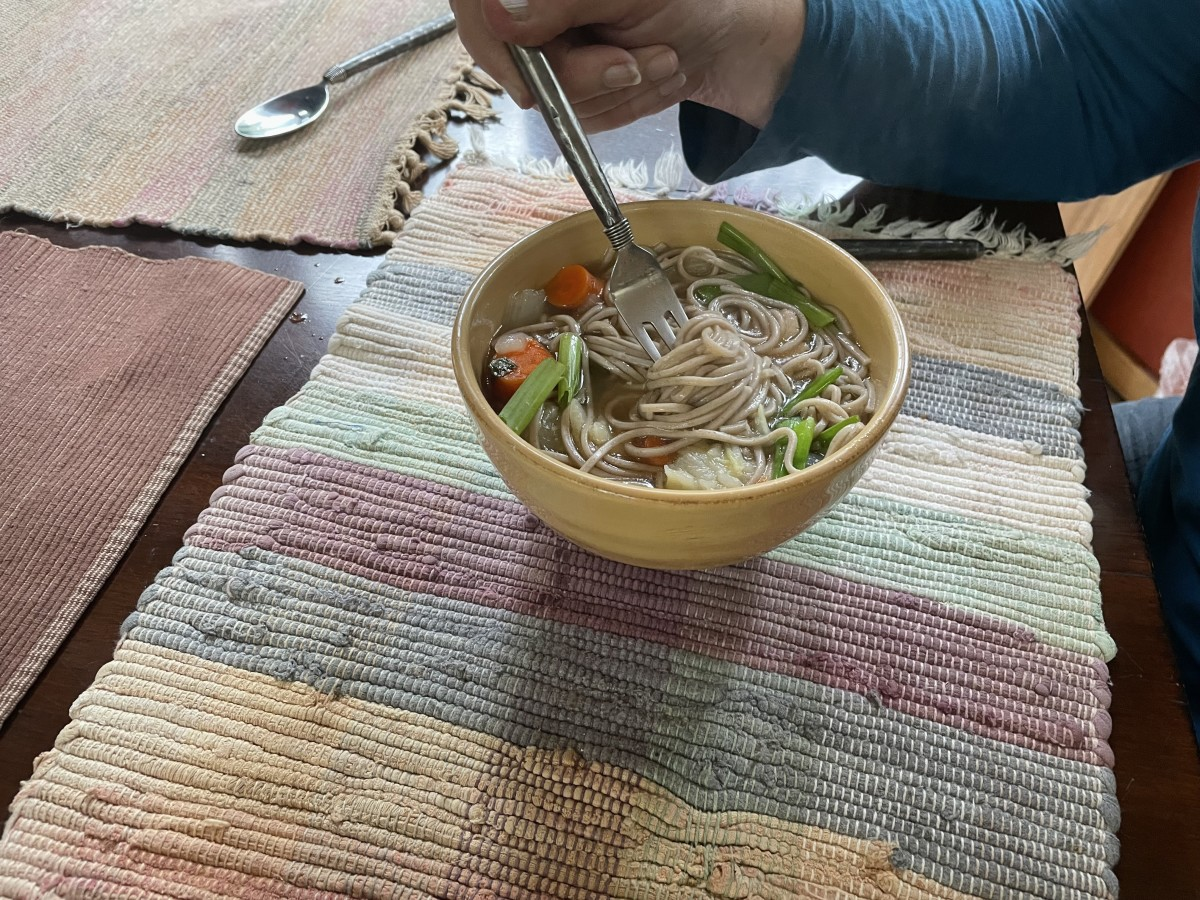 Japanese-inspired chicken noodle soup