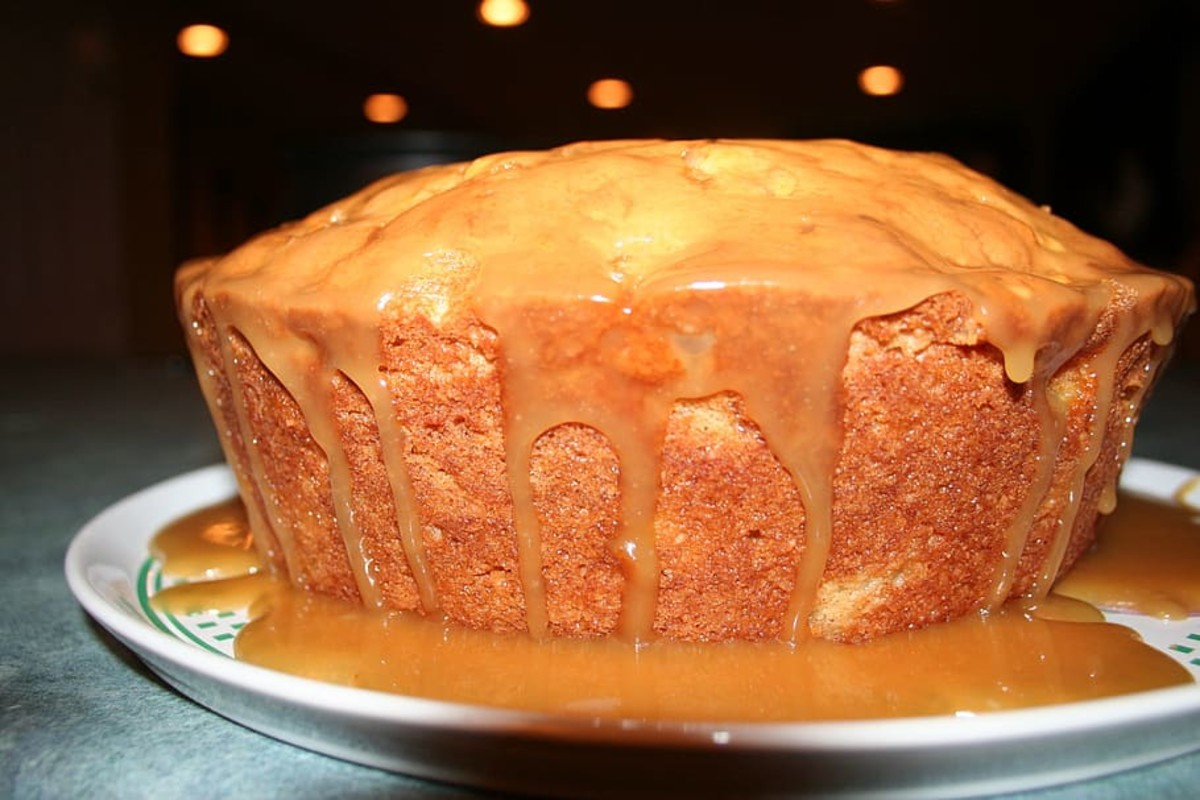 Apple sponge pudding.