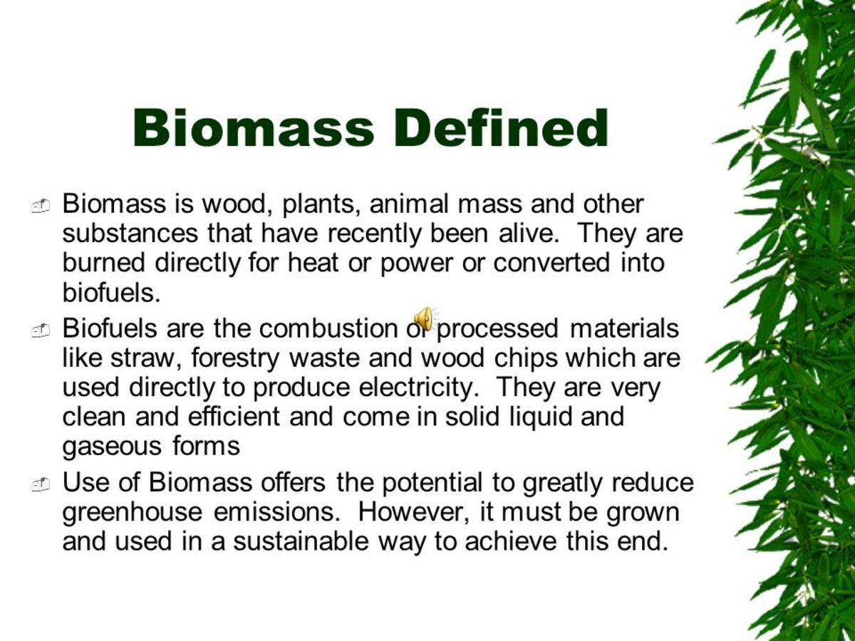 Biomass Defined