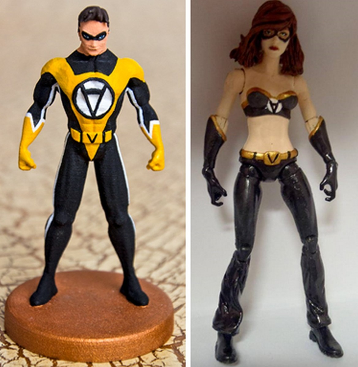 Voluntaryist and Voluntaria: Not just comic book characters but action figures too! Suitable for your room, your desk or your dashboard.