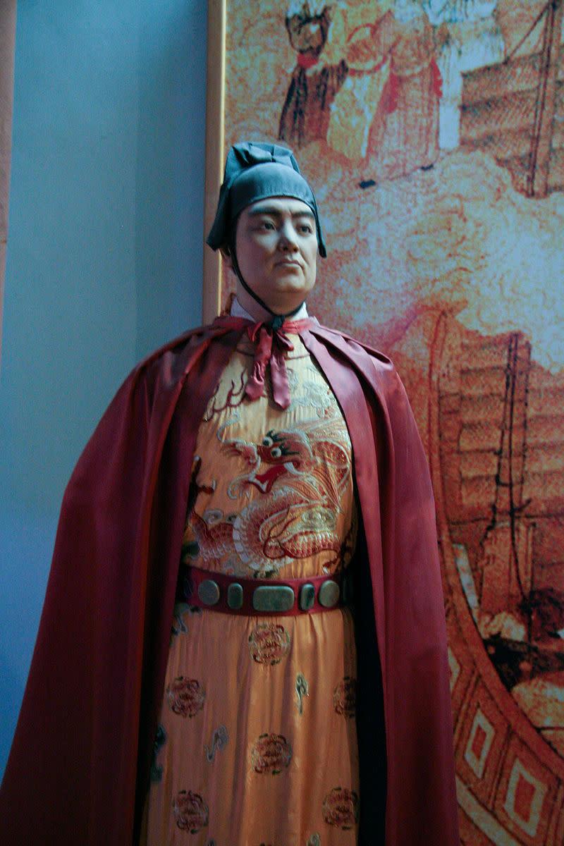 Zheng He wax statue in the Quanzhou Maritime Museum