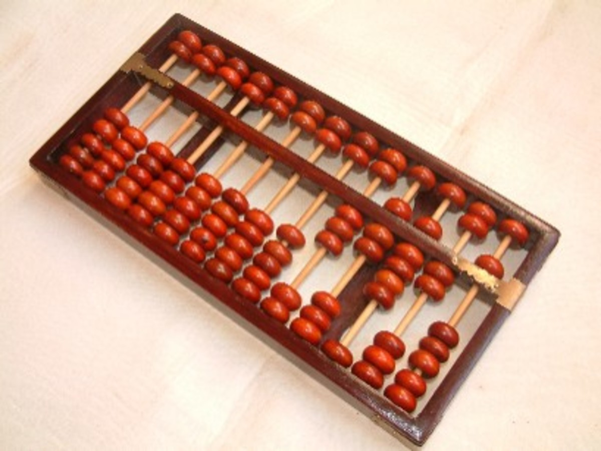A Chinese abacus, Suanpan
