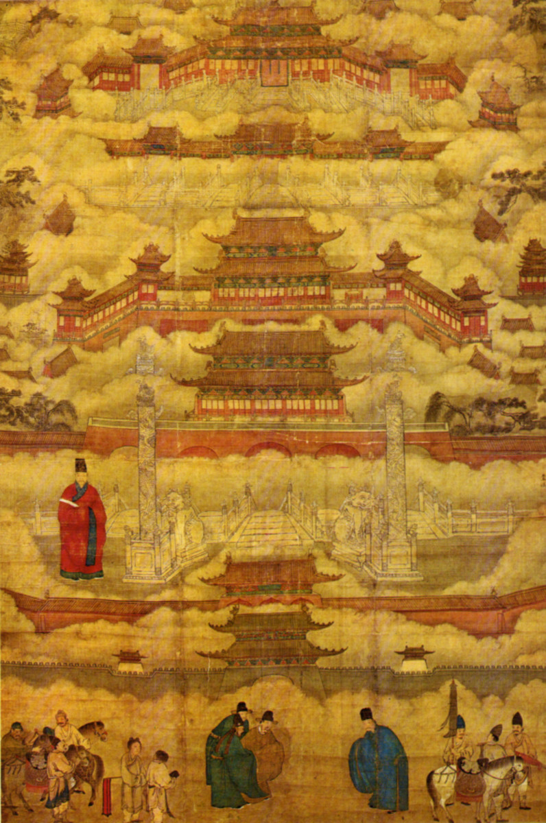 The Forbidden City as depicted in a Ming dynasty painting