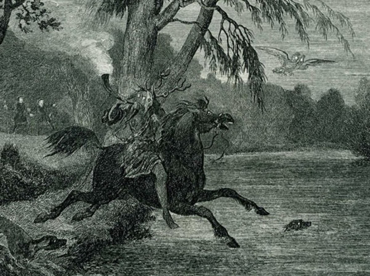 Herne the Hunter (George Cruikshank circa 1843)