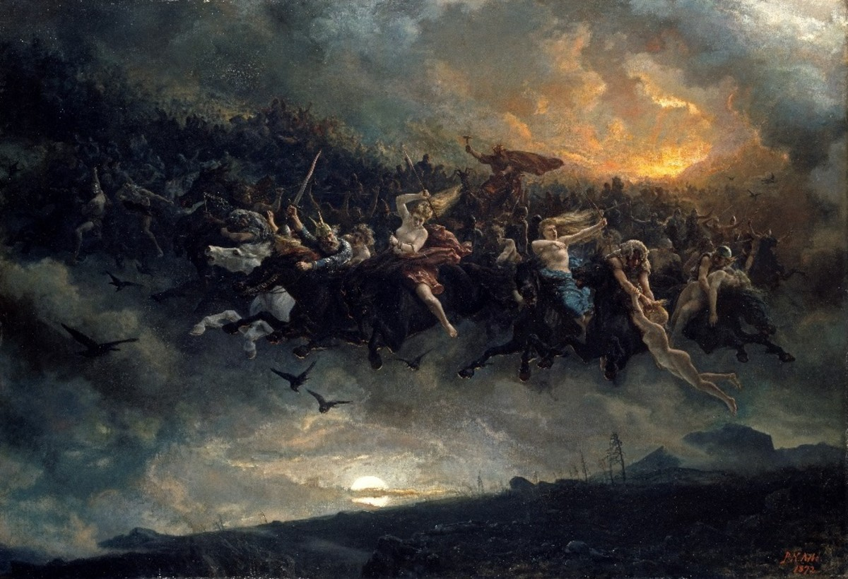 Asgardsreien - The Wild Hunt of Odin (Peter Nicolai Arbo 1872)