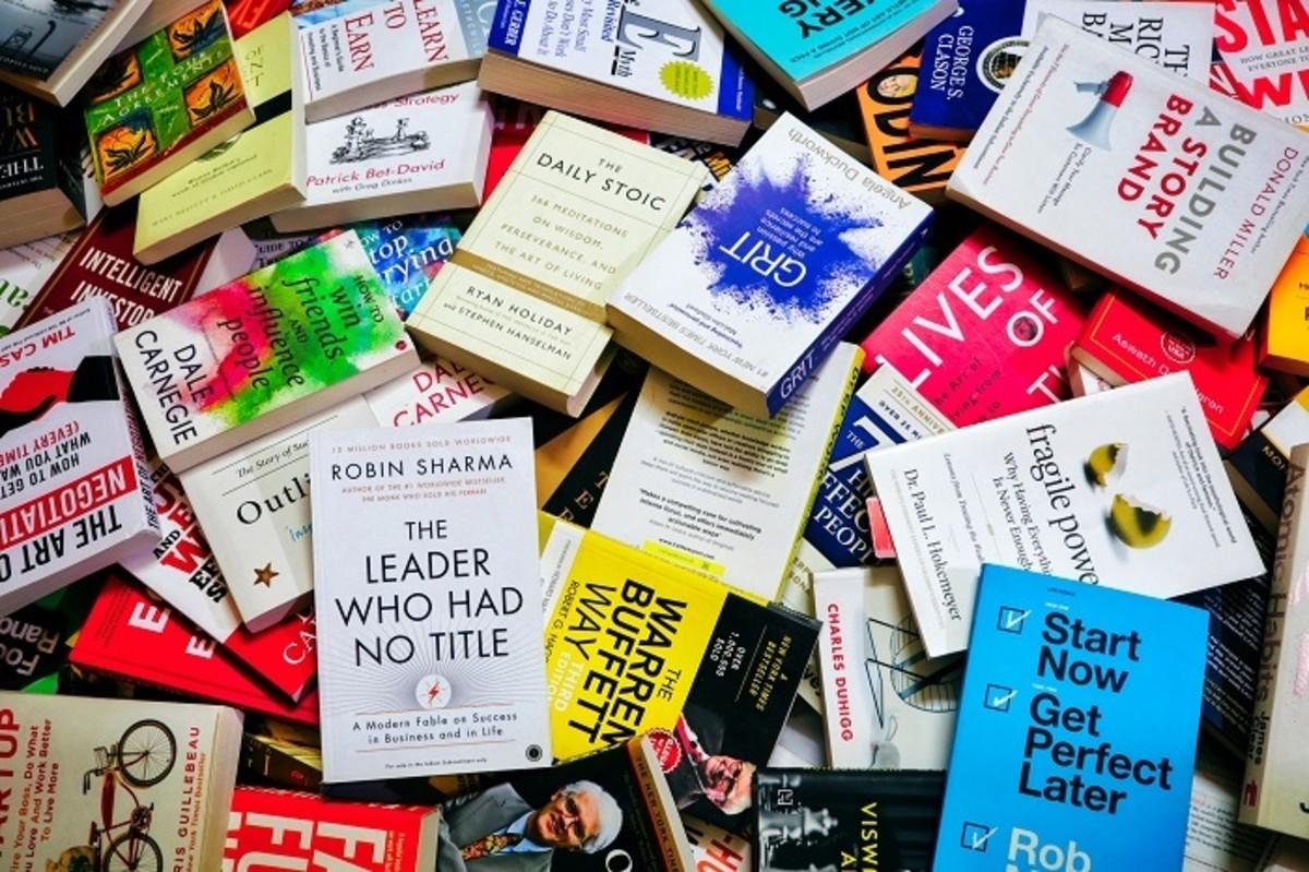 Pic: A Stack of Self-Help Books